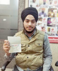 Amanpreet Singh - Morinda - Study Visa