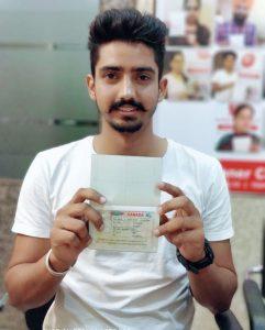 Arshdeep Singh Dhillon - Ferozepur- Study Visa