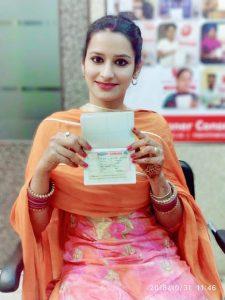Gagnpreet Kaur Mann- Chamkaur Sahib - Study Visa