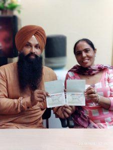 Gurpreet Singh Dharni - Fatehgarh Sahib - Multiple Entry Visa