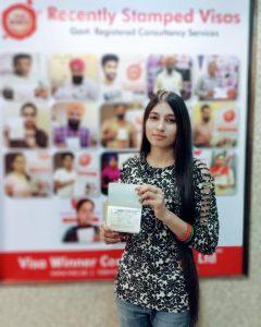 Harjit Kaur- Chamkaur Sahib - Study Visa