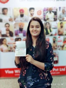 Jasmeet Kaur Raina- Mohali- Study Visa