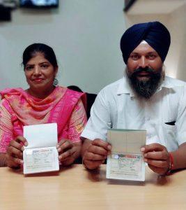 Kuljit Singh & Wife - Hafizabad- Multiple enrty Visa