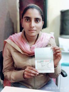Prabhjot Kaur - Morinda - Study Visa