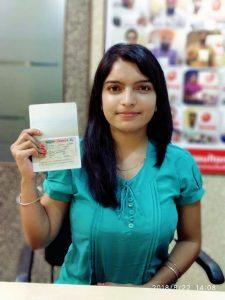 Ramandeep Kaur Dhaliwal - Raikot Ludhiana - Study Visa