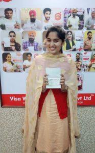 Sanamdeep Kaur - Jagraon - Study Visa