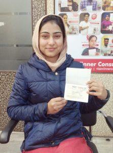 Simranjit Kaur - Chamkaur Sahib - Study Visa